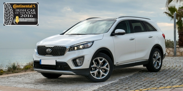 Kia Sorento Continental Irish Large Car Of The Year 2016