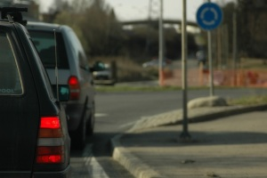 5 worst drivers meet on a roundabout